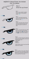 Anime Eye Tutorial by mjjdcf