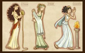 Mythology girls_1 by roby-boh