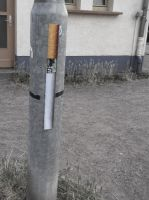 Giant cigarette stickers by Senf42