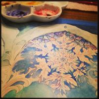 Snowflake Work in Progress 2 by MeredithDillman