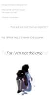 I am not the one by CrispyCh0colate