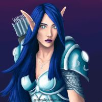 Night Elf Huntress by seishyn