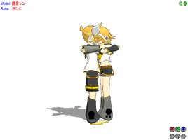 Rin and Len hug by RanmaGirlSaotome