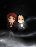 GF:Severus Snape and Lily Evans by xXUnicornXx