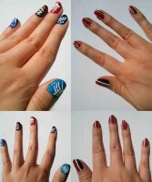Mass Effect nail art by Sayamaru