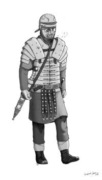 Legionary in Germania 9 BC by MunenMusho