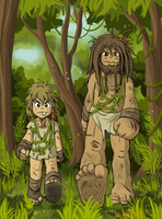 Gnarly Neanderthals by LavaLizard