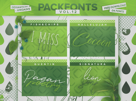Pack Fonts Vol. 12 by xPEGASVS