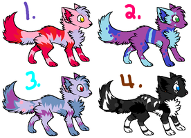 Wolf adopts by Tangle-Kitty