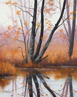 Tree reflections by artsaus
