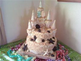 Sand Castle Cake by Candylands