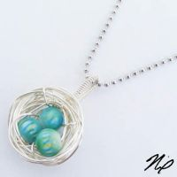 Bead Egg Nest Wire Pendant by Create-A-Pendant