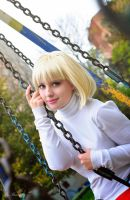 Shingetsutan tsukihime. Arcueid on a swing by KirikoSan
