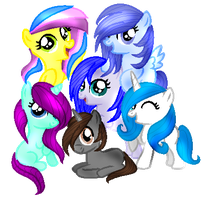 REQUEST Pasiowata2002 Mane Six by IcyPonyArtist