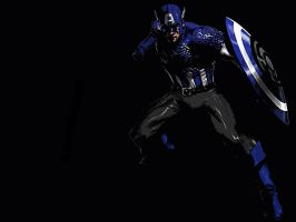Blue Lantern Captain America by 666Darks
