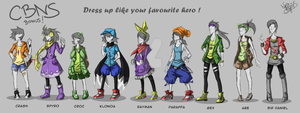 CBNS bonus ! Dress up like your favourite hero ! by 123soleil