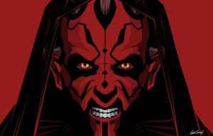 Darth Maul Red by benskywalking