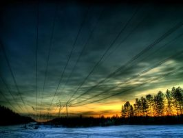 Power Lines II by hillo-sipuli