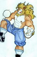 soccer lion by melchiore