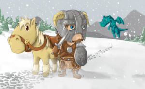 Cute Skyrim Fan art by khuon