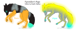 Fyrember's Pups by acornheart465