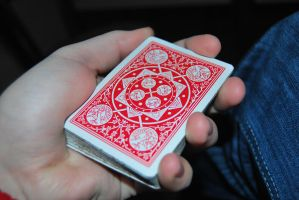 Tally Ho Red - Playing Cards by cal3star