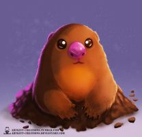 Kanto - Diglett by ArtKitt-Creations