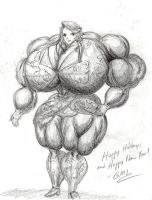 Gift for Deliciously Idiotic: Olga Pumped Up by GrandMasterLucilious