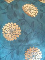 Blue and Gold Floral Texture by Alska