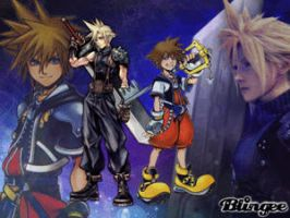 Cloud Strife and Sora by Yuma76