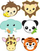 Zoo Animals by MidniteHearts