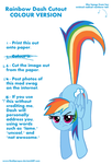 Rainbow Dash Cutout (COLOUR VERSION) by RedApropos