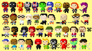 Tiny Tower Characters: Avengers and Valve by DylanBaugh
