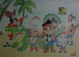 Jake and the neverland pirates by DanloS