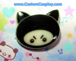 Ninja kitty pin or ring by The-Cute-Storm