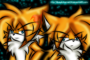 AT - Tairusuku - Tails 15 and 18 years old... by SilverAlchemist09