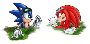 oC - Sonic and Knuckles by BlizzardWolf