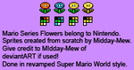 Super Mario World-style Revamped Flowers by Midday-Mew