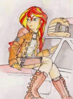 Sunset Shimmer Colonial Viper Pilot by daisymane