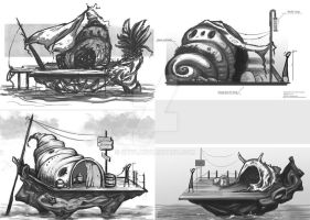 Sea Shell House concept art by shy4