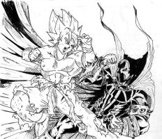 Spawn Vs Goku by ocreskater
