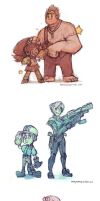 Wreck-It Ralph Sketches by BettyKwong