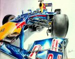Vettel RB7 Drawing by Galbatore