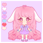 Adoptable- Pastel Bunny [Closed] by PuffyPrincess