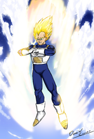 Super Sayian Vegeta by BlackBerriNinja