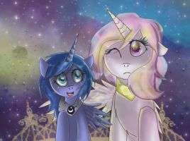 Tia and Luna. by MonotoneInkwell