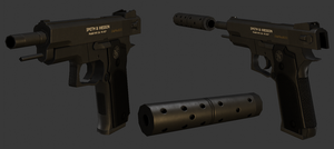 Low Poly Smith and Wesson M645 by Fewes