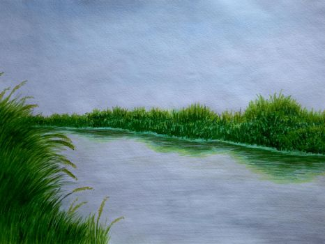 Reeds along the river by Cancer--chan
