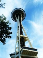 .Spaceneedle on a blue day. by decayedroses