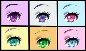 eyes practice equestria by chocone